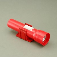 2 D Cell Plastic Flashlight with Wall-Mounted Holder